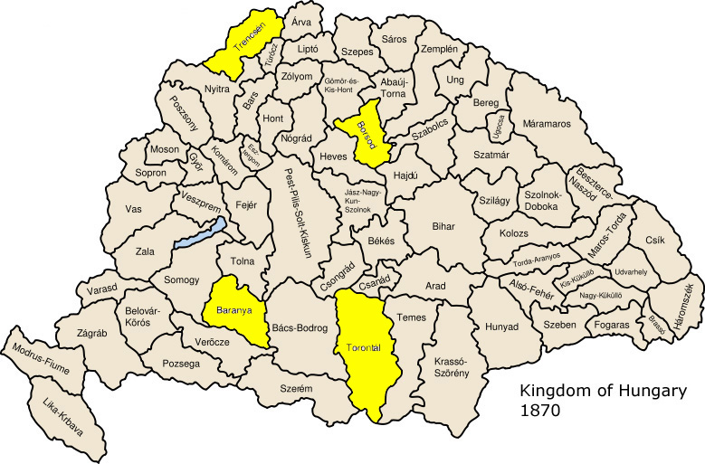 Hungarian counties of note